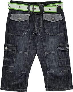 Belted Cargo Jean Shorts Juniors Skate Clothing Short Pants Bottoms