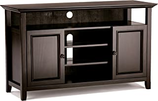 Simpli Home INT-AXCAMH-TV-DAB Amherst Solid Wood 54 inch Wide Transitional TV Media Stand in Dark Brown For TVs up to 60 inches