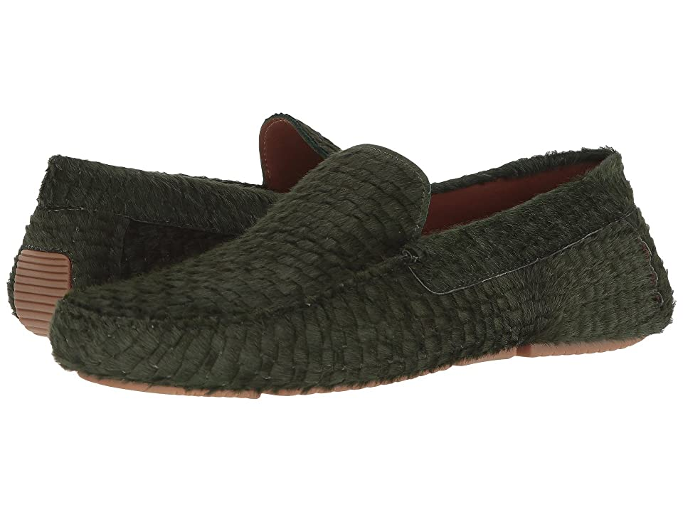 f0666557cc1 Aquatalia Bryce (Hunter Green Embossed Haircalf) Men s Slip on Shoes