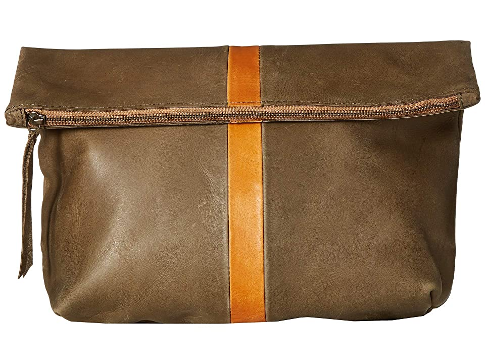ABLE Foldover Emnet (Olive/Cognac) Handbags