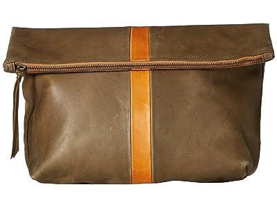 ABLE Foldover Emnet (Olive/Cognac) Handbags