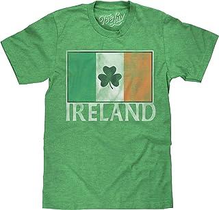 Tee Luv Ireland Shamrock T-Shirt - Irish Flag Shirt