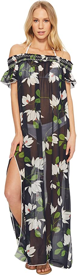 Elisa Sheer Off The Shoulder Maxi Dress Cover-Up