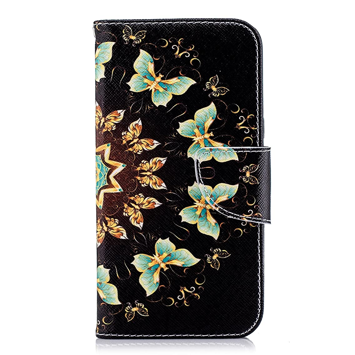 Samsung Galaxy J2 Pro 2018/Grand Prime Pro/J2 2018 Case, Lomogo Leather Wallet Case with Kickstand Card Holder Shockproof Flip Case Cover for Galaxy J2 Pro 2018 - LOBFE11325#2