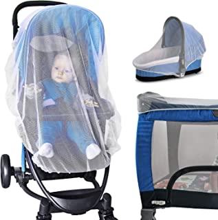 Baby Ziz Drawstring Baby Mosquito Net for Stroller, Bassinet, Infant Carrier, Car Seat, Pack and Play, Insect Mesh Netting...