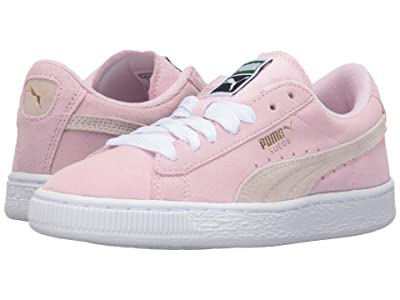 Puma Kids Suede Jr (Big Kid) (Pink Lady/White/Team Gold) Girls Shoes