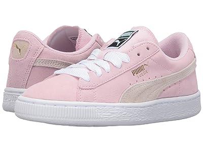 Puma Kids Suede Jr (Big Kid) (Pink Lady/White/Team Gold) Girls Shoes