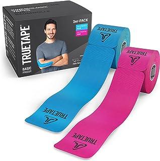 TRUETAPE® Basic - Rubans kinésiologiques   prédécoupés   Duopack   respectueux de la peau & confort de port parfait   2x 2...