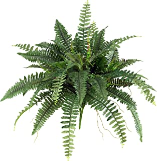 "Nearly Natural 6032-S2 40"" Boston Fern (Set of 2), Green, 2 Piece"
