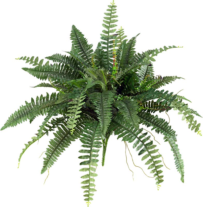 Nearly Natural 6032 S2 40 Boston Fern Set Of 2 Green 2 Piece