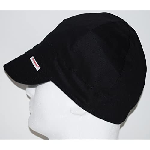 a52749540ee Comeaux Caps Reversible Welding Cap Solid Black 7 1 2