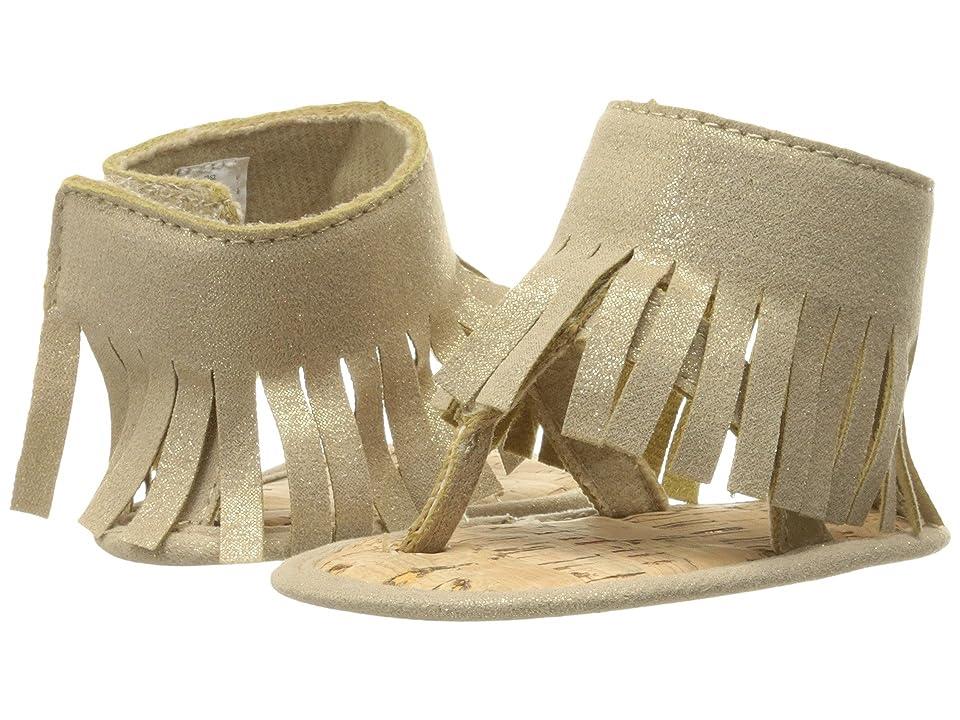 Baby Deer Shimmer Thong with Fringe (Infant) (Gold Metallic) Girls Shoes