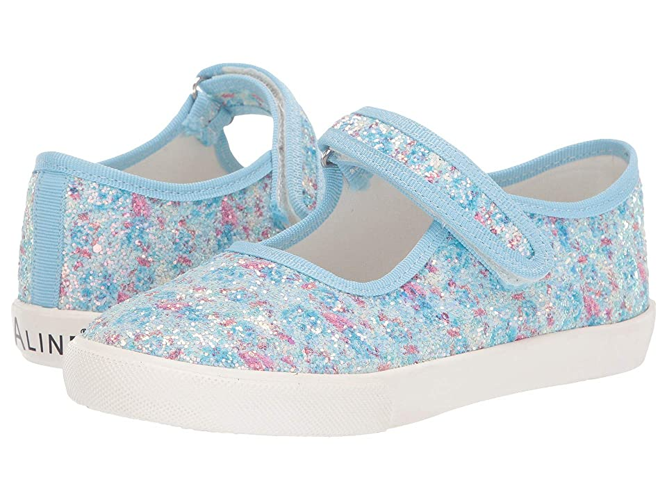 Amiana 6-A0838 (Toddler/Little Kid/Big Kid) (Blue Floral Glitter) Girls Shoes