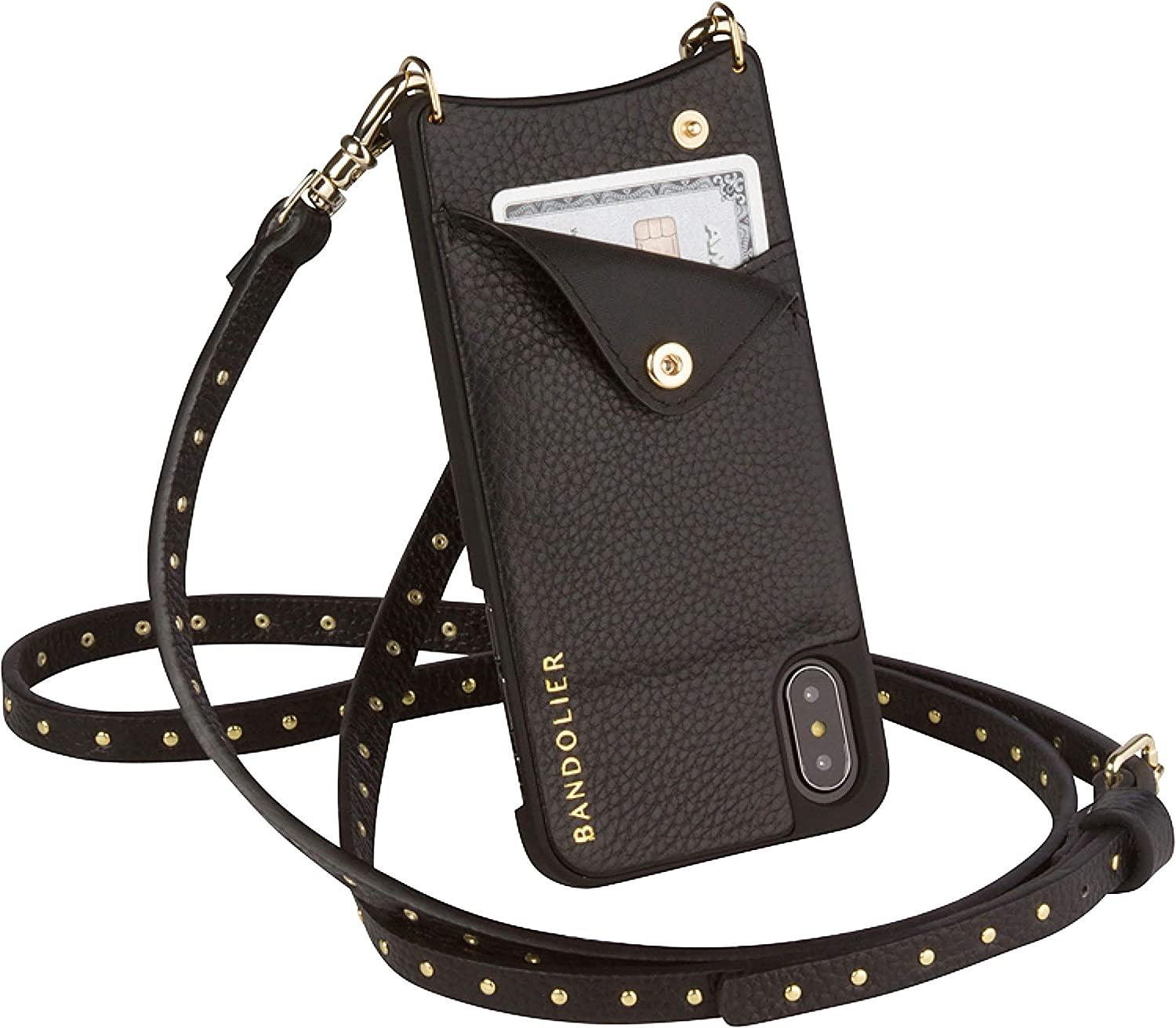 Bandolier Nicole Crossbody Phone Discount is also Opening large release sale underway Case Leather Black - and Wallet