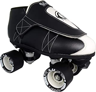 VNLA Tuxedo Jam Skate Mens & Womens Skates - Roller Skates for Women & Men - Adjustable Roller Skate/Rollerskates - Outdoor & Indoor Adult Skate - Kid/Kids Skates (Black/White)
