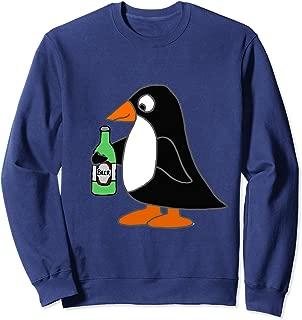 Smileteesall Funny Penguin Drinking Beer Cartoon Sweatshirt