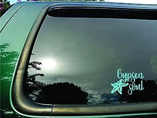 Gypsea Soul Starfish Teal Green- Die Cut Vinyl Window Decal/sticker for Car/Truck/Laptop 6.5