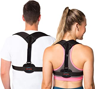 Back Posture Corrector Brace for Men and Women - Effective Solution for Shoulder Alignment Thoracic Support Kyphosis Slouching and Hunching - Clavicle Support