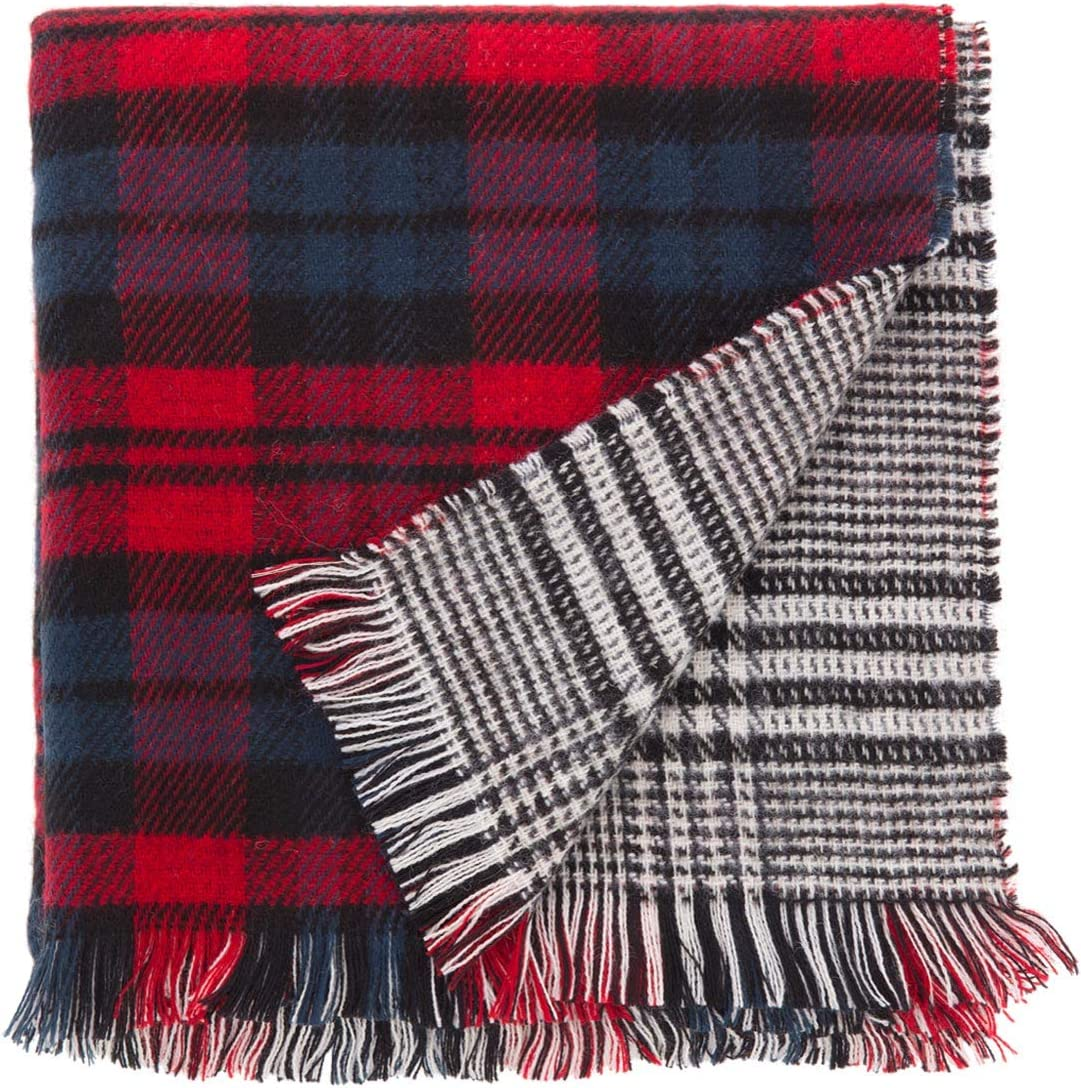 WINTER CH. CARPISA/® CARPISA/® lunga Sciarpa invernale con frange in tessuto double-face stampa scozzese fantasia tweed