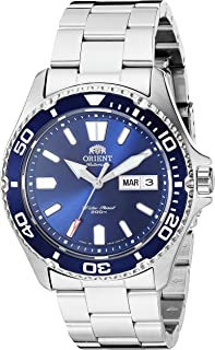 Orient Japanese Automatic Sport Watch with Stainless Steel Strap, Silver, 20 (Model: SAA0200BD9)