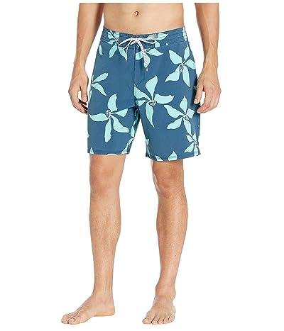 Quiksilver Waterman Falling Blossom Boardshorts (Majolica Blue) Men
