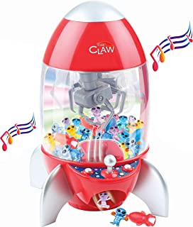 Bundaloo Claw Machine Arcade Game Candy Grabber & Prize Dispenser, Rocket Vending Toy for Kids with Lights & Sound Best Birthday & Christmas Gifts for Boys & Girls