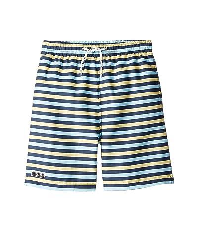Toobydoo Classic Swim Shorts (Infant/Toddler/Little Kids/Big Kids) (Multicolored Stripe) Boy