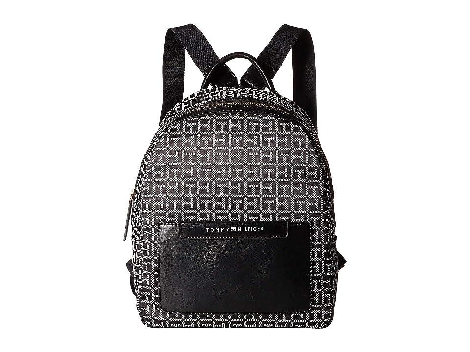 Tommy Hilfiger Jackie Backpack (Black/White) Backpack Bags