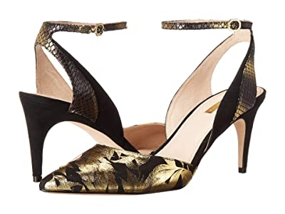 Louise et Cie Kyrah (Black/Gold/Black) High Heels