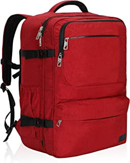 Hynes Eagle 44L Carry on Backpack Flight Approved Compression Travel Pack Cabin Bag, Red-2018
