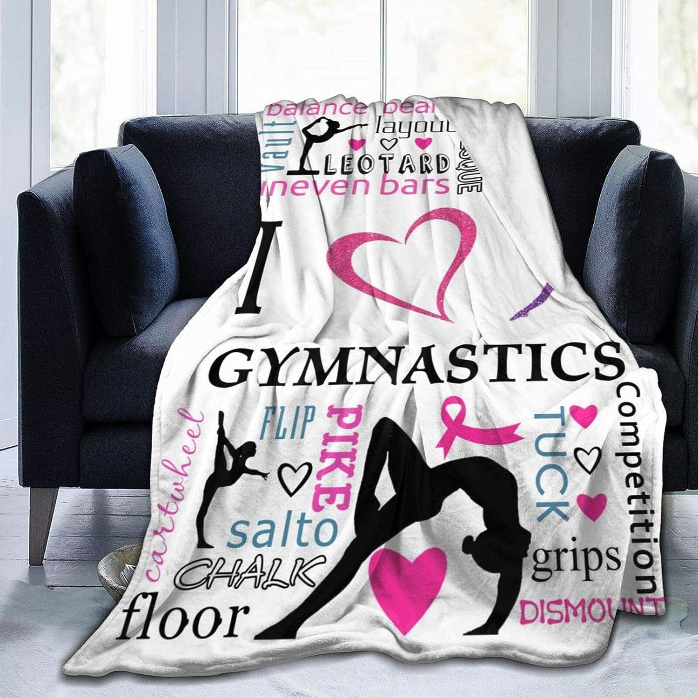 CHILL·TEK Max At the price of surprise 85% OFF Blanket I Love Su Fleece Gymnastics Flannel