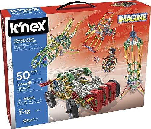 K'Nex K 'NEX Imagine Mega Schublade Power and Play 50 delle, 530 ile (Spielzeugfürik 41227)