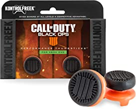 KontrolFreek Call of Duty: Black Ops 4 for Xbox One Controller   Performance Thumbsticks   2 High-Rise   Black/Orange