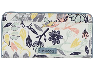 Sakroots Artist Circle Slim Wallet (Multi Peace Birds) Wallet Handbags