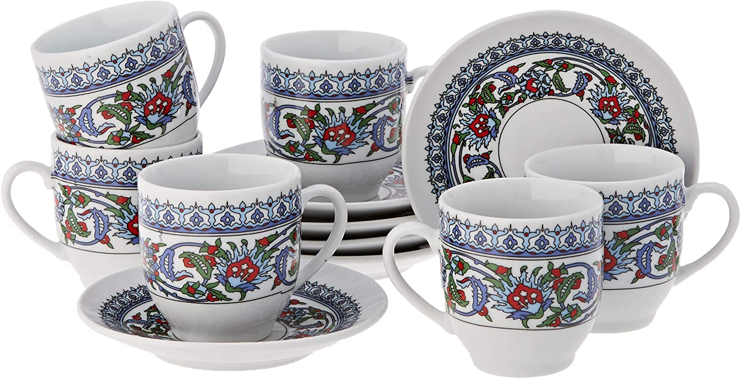 The Turkish Omaha Mall Emporium Porcelain Espresso Set Cup Great interest Saucer Coffee of
