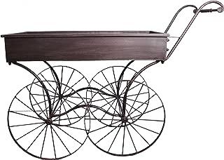 Wald Imports Brown Metal Display/Bar Cart