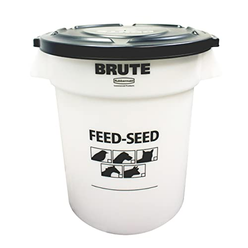 Rubbermaid Commercial 1868861 Feed And Seed Brute With Lid 20 Gallon