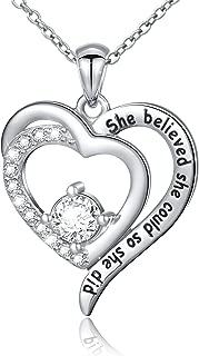 Sterling Silver Engraved Inspirational Necklace Bracelet