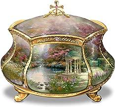 Bradford Exchange Ardleigh Elliott Thomas Kinkade Garden of Prayer Faith Music Box