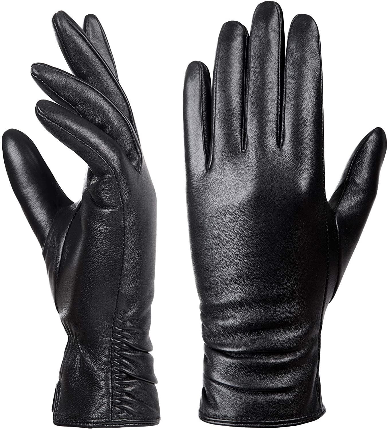 Omaha Mall Max 56% OFF Womens Winter Leather Touchscreen Lambskin Texting Warm Driving