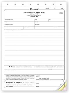 CheckSimple Job Proposal Forms, Customized w/Company Info, Large Format (100 3-Part Forms)
