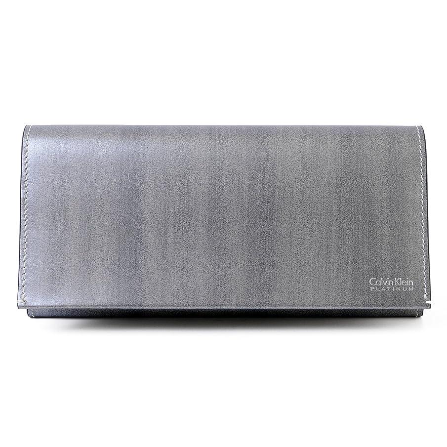 ビジター難民考案する[カルバンクライン] Calvin Klein PLATINUM レザー ロング ウォレット 839616 [並行輸入品]