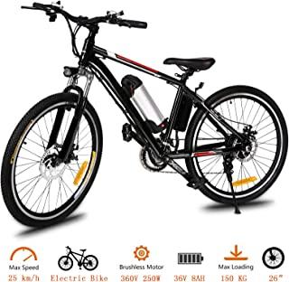 Tomasar Power Electric Bike with Lithium-Ion Battery, 26/20 inch Wheel Cyclocross Bike (US Stock)
