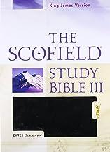 Holy Bible: King James Version, The Scofield Study Bible III, Duradera Zipper Black