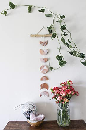 Copper & Rose Gold Moon Phase Wall Hanging