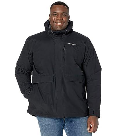 Columbia Big Tall Firwood Jacket (Black/Black Heather) Men