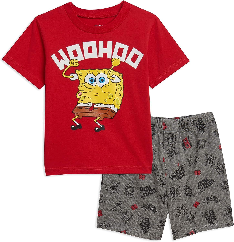 Nickelodeon Spongebob Squarepants Short Attention New sales brand T-Shirt Sleeve Shorts