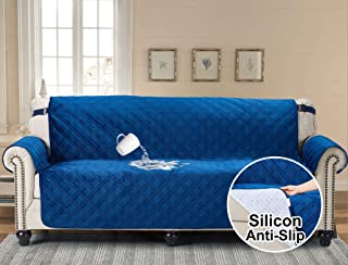 Velvet Sofa Protector Slipcover For Leather And Fabric Couch Waterproof Slip Resistant 70