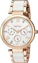 Caravelle New York Women's Analog-Quartz Watch with Stainless-Steel Strap, Two Tone, 18 (Model: 44N108)