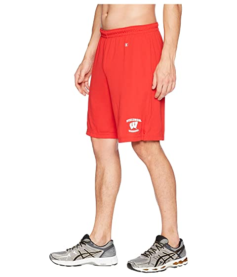 Wisconsin cortos pantalones Badgers malla escarlata College de Champion 5qTA7